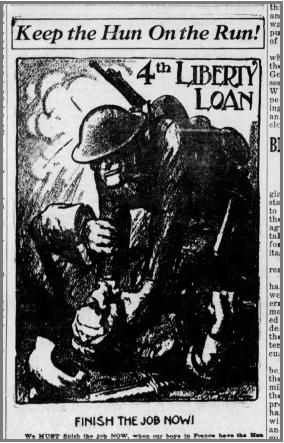 (Daily Democrat, October 12, 1918)