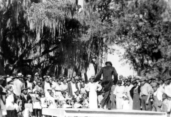 African American workers and tenants celebrating Emancipation Day (May 20th) at Horseshoe Plantation